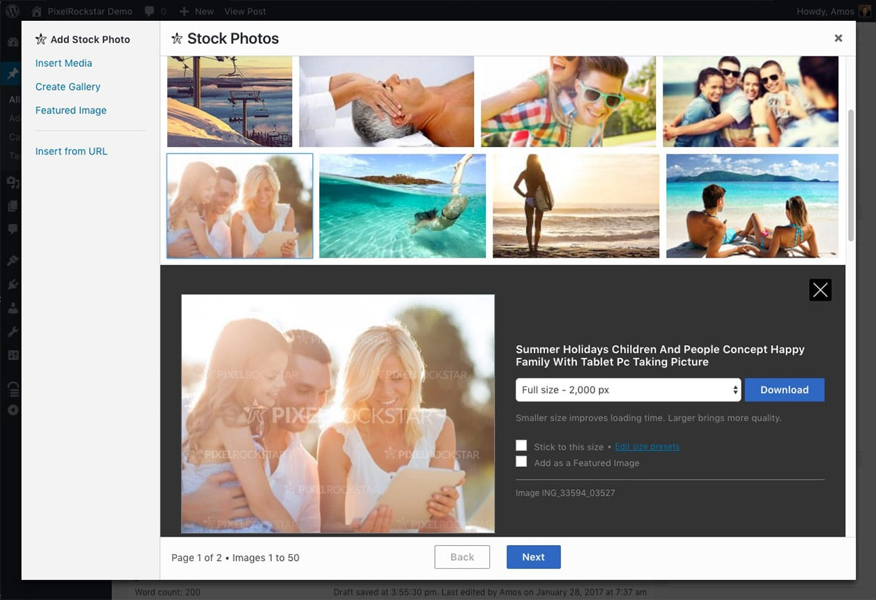 PixelRockstar – WordPress Plugin for High Quality Legal Images